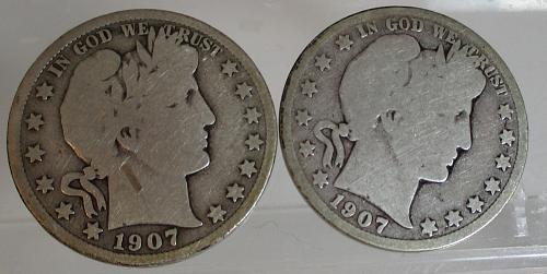 1907 D Barber Half Dollars    N E W   P R I C E     1/6/2020