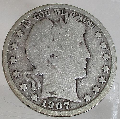 1907 S Barber Half Dollar    N E W   P R I C E     1/6/2020