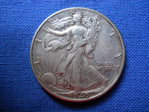 1940 (P) Walking Liberty Half Dollar. Extremely Fine. Original Surfaces.  LC#137