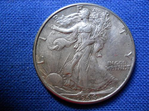 1944(P) Walking Liberty Half Dollar. About Uncirculated. Mint Luster.  LC#146.