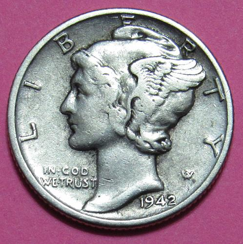 1942 10 Cents - Mercury Dime