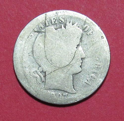 1907 10 Cents - Barber Dime