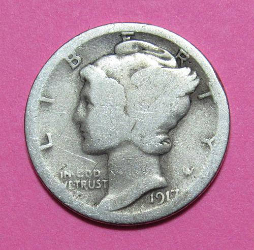 1917 10 Cents - Mercury Dime