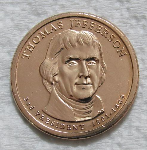 2007-P $1 - Thomas Jefferson Presidential Dollar