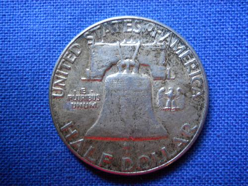 1954 (P) Ben Franklin Half Dollar. About Uncirculated, Original Surfaces. LC#157