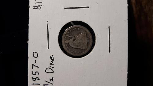 Nice 1857-0 half dime