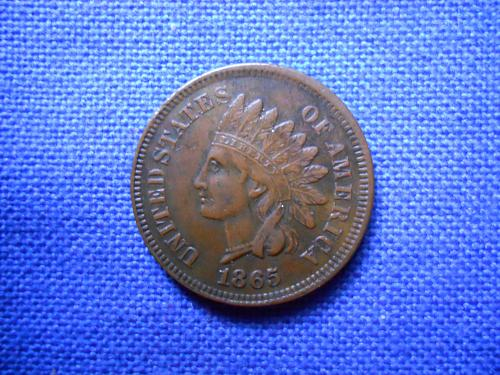1865 Indian Head Cent, Fancy 5.  Extremely Fine-45.  Original Surfaces.  LC#163