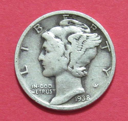 1938 10 Cents - Mercury Dime