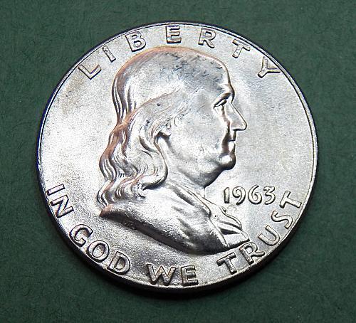 1963 P Franklin Half Dollar BU Coin   f50
