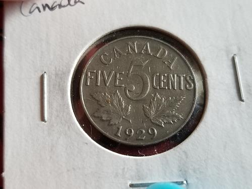 1929 - Canada - 5 Cents