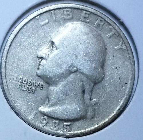 1935-P FINE Washington Quarter F # 123-F)