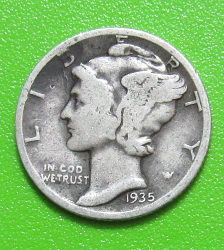 1935 10 Cents - Mercury Dime