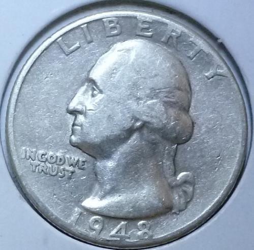 1948-D  GRADES VERY FINE Washington Quarter VF  # 830-R )