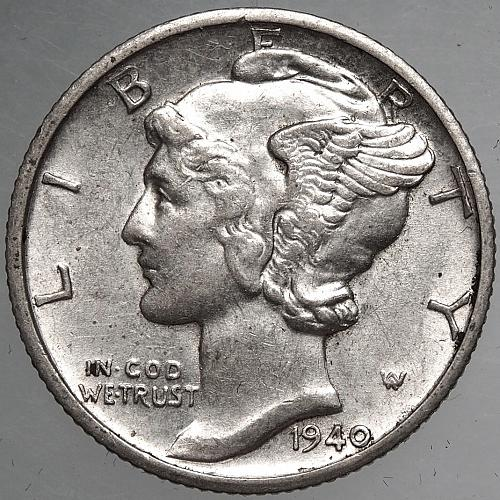 1940 D Mercury Dime#1