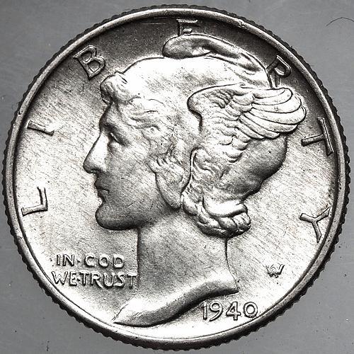 1940 P Mercury Dime#1