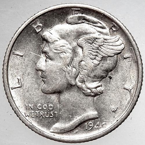 1940 S Mercury Dime#1
