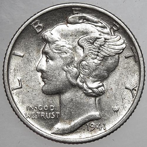 1941 P Mercury Dime#1