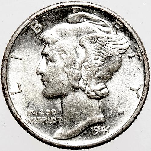 1941 D Mercury Dime #1
