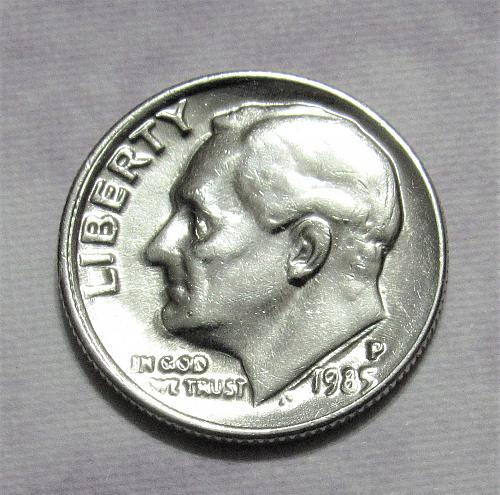 1985-P 10 Cents Roosevelt Dime