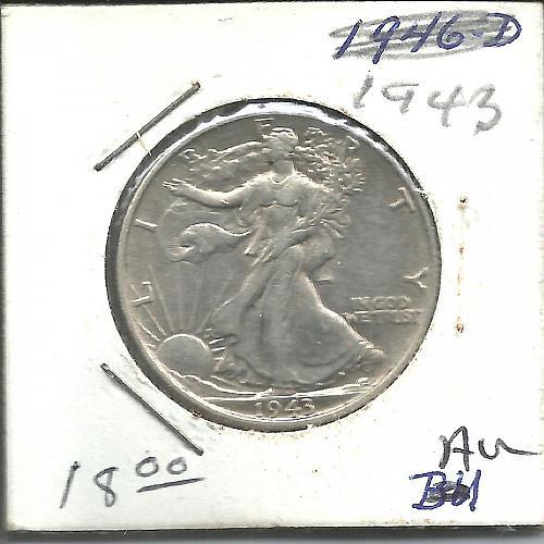 1943   P    WALKER HALF DOLLAR