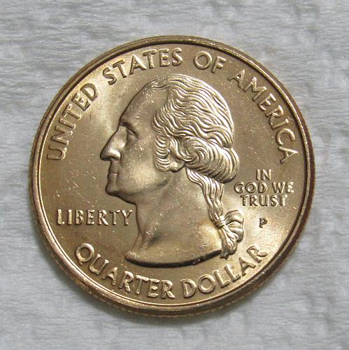 1999-P 25 Cents - Connecticut State Quarter - Gold Layered