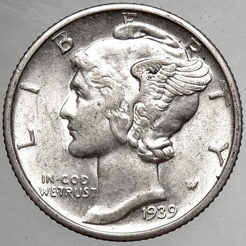 1939 D Mercury Dime#4