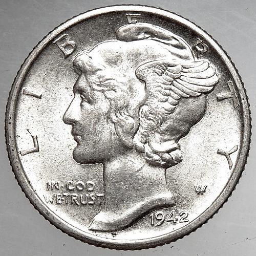 1942 D Mercury Dime#1