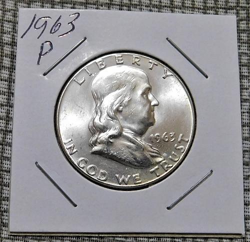 1963 P BEN FRANKLIN HALF DOLLAR