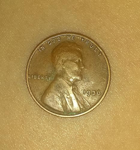 RARE 1936 P Lincoln Wheat Penny DDO
