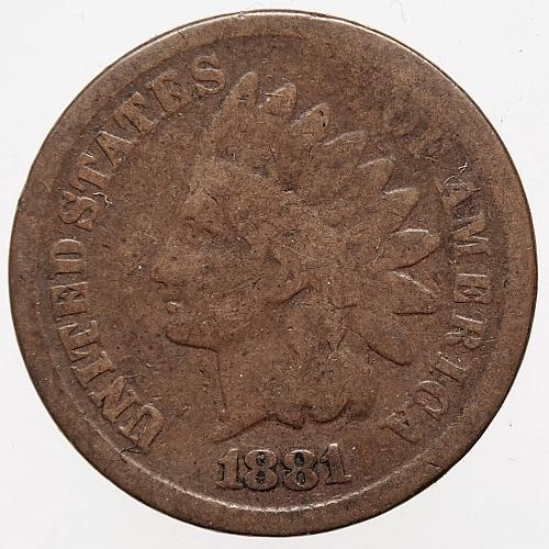 1881 P Indian Head Cent #20