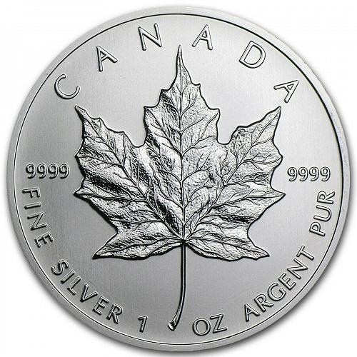 2013 - 1 oz Canadian Silver Maple Leaf Coin - One Troy oz .9999