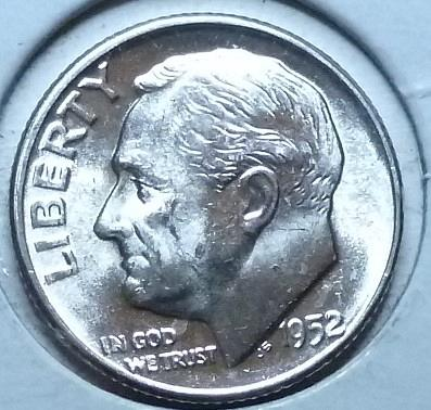 1952-P Gem Brilliant Uncirculated MS-66 Roosevelt Dime ( 978 )