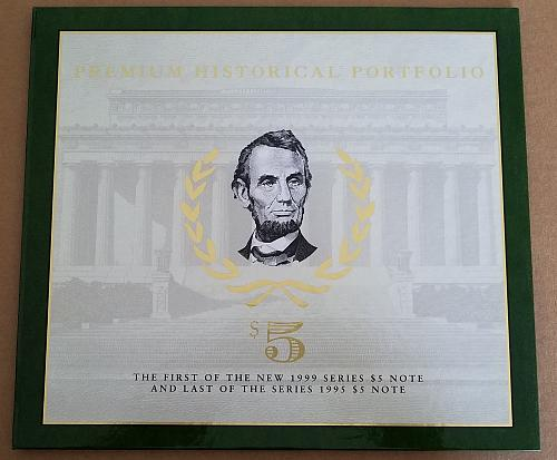 1995/1999 FRN $5 Premium Historic Portfolio