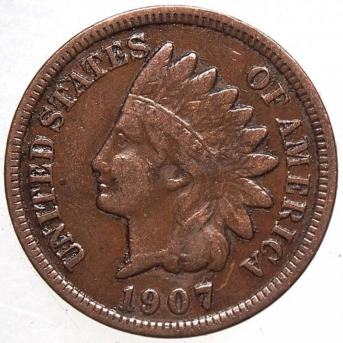 1907 P Indian Head Cent #39