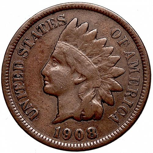 1908 P Indian Head Cent #55