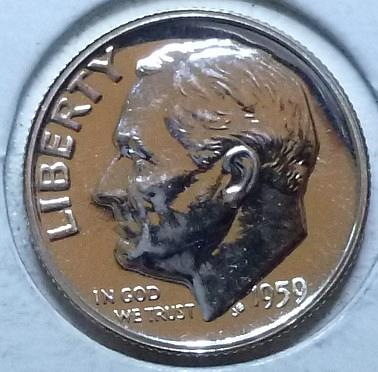 1959- P Silver PROOF Roosevelt Dime. Very nice high grade ( 972)