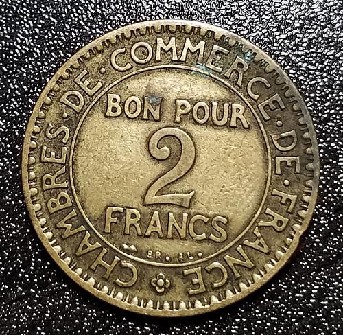 1924 2 Francs Chambres de Commerce