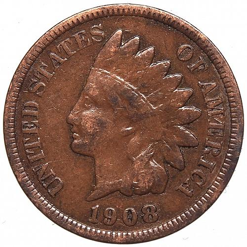 1908 P Indian Head Cent #51