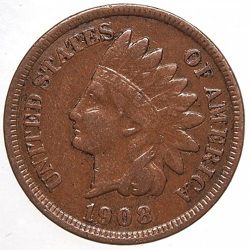 1908 P Indian Head Cent #52
