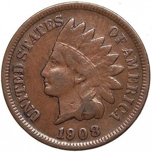 1908 P Indian Head Cent #53