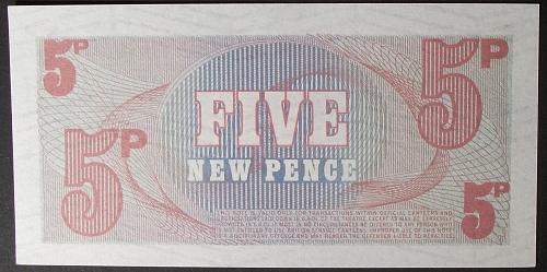 Great Britain M47 5 New Pence UNC62
