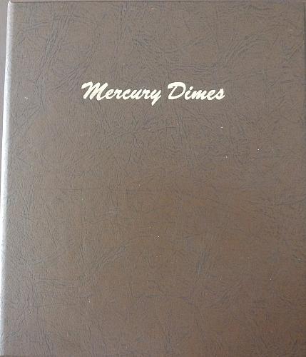 1916 through 1945-D MERCURY DIME SET in Album Less 16-D & overdates