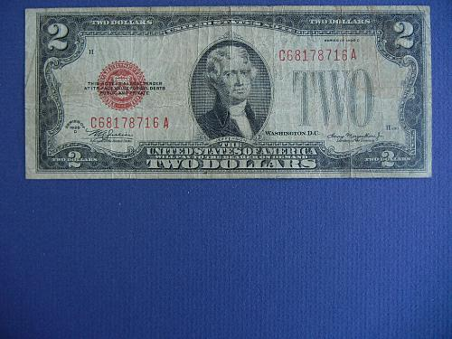 1928-D RED SEAL US NOTE-STRONG CONDITION FREE SHIP  #9919