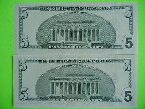 2 CONSECUTIVE $5 FRN's REPLACEMENTS- STARS ** PERFECT CONDITION FREE SHIP  #9875