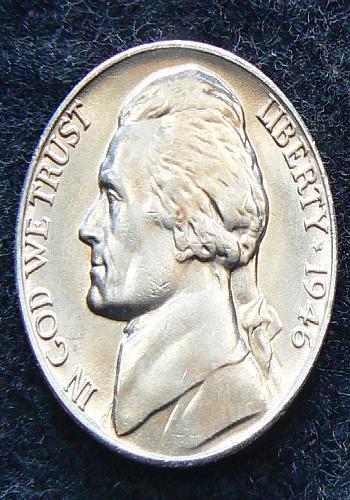 1946 P Jefferson Nickel FS