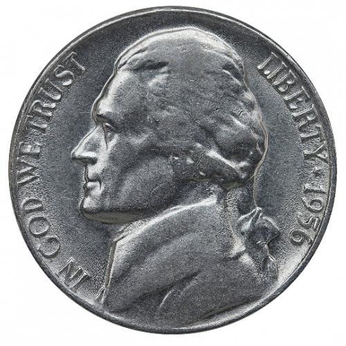 1956 Jefferson Nickel, Gem BU