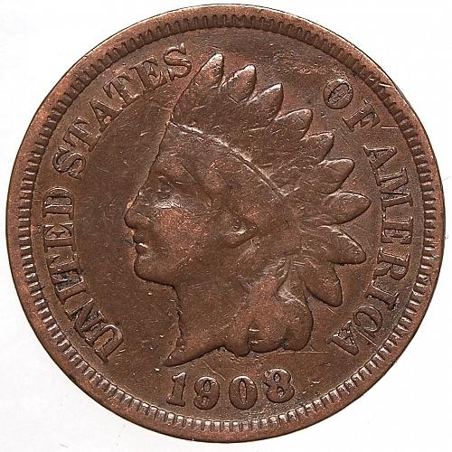 1908 P Indian Head Cent #54