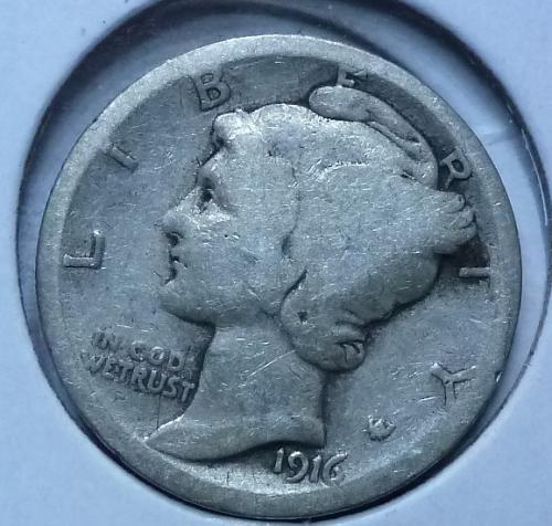 1916-P Mercury Dime   ( 150)