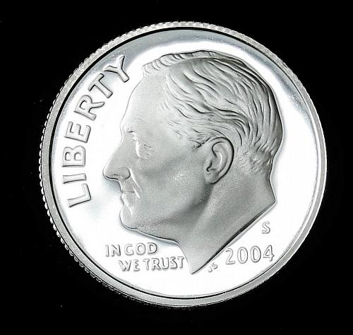 2004-S SILVER PROOF ROOSEVELT DIME