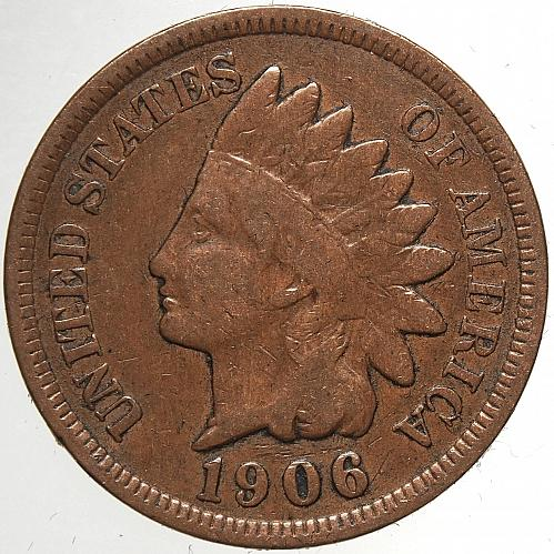 1906 P Indian Head Cent #58